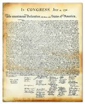 Declaration of Independence Document
