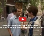 Did President Assad Gas His Own People